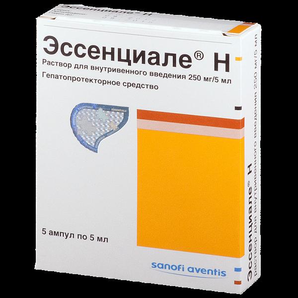 Эссенциале H р-р для в/в введ.250мг/5мл амп.№5 41003