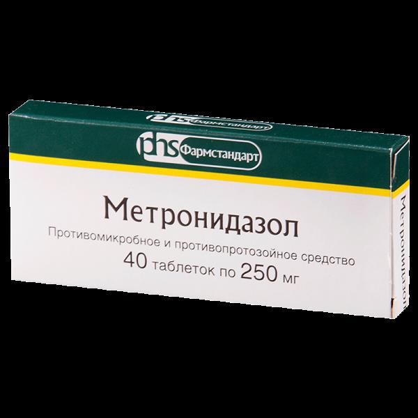 Метронидазол тб 250мг N40 112369
