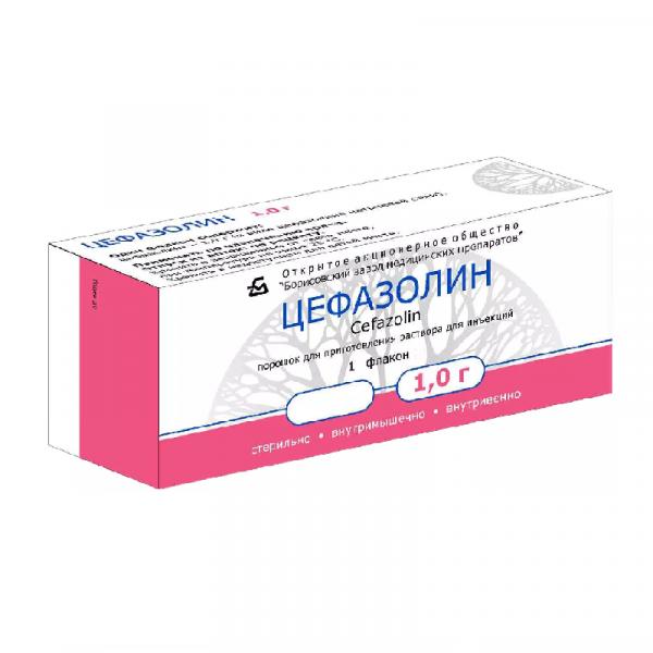 Цефазолин пор.д/приг.р-ра для в/в и в/м введ.фл.1г №1 153424
