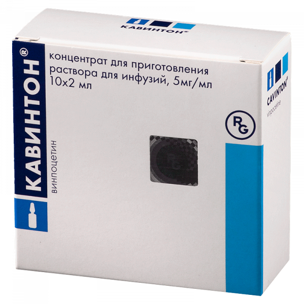 Кавинтон конц. для р-ра д/инф. 10 мг/2 мл. амп. 2 мл. №10 14037